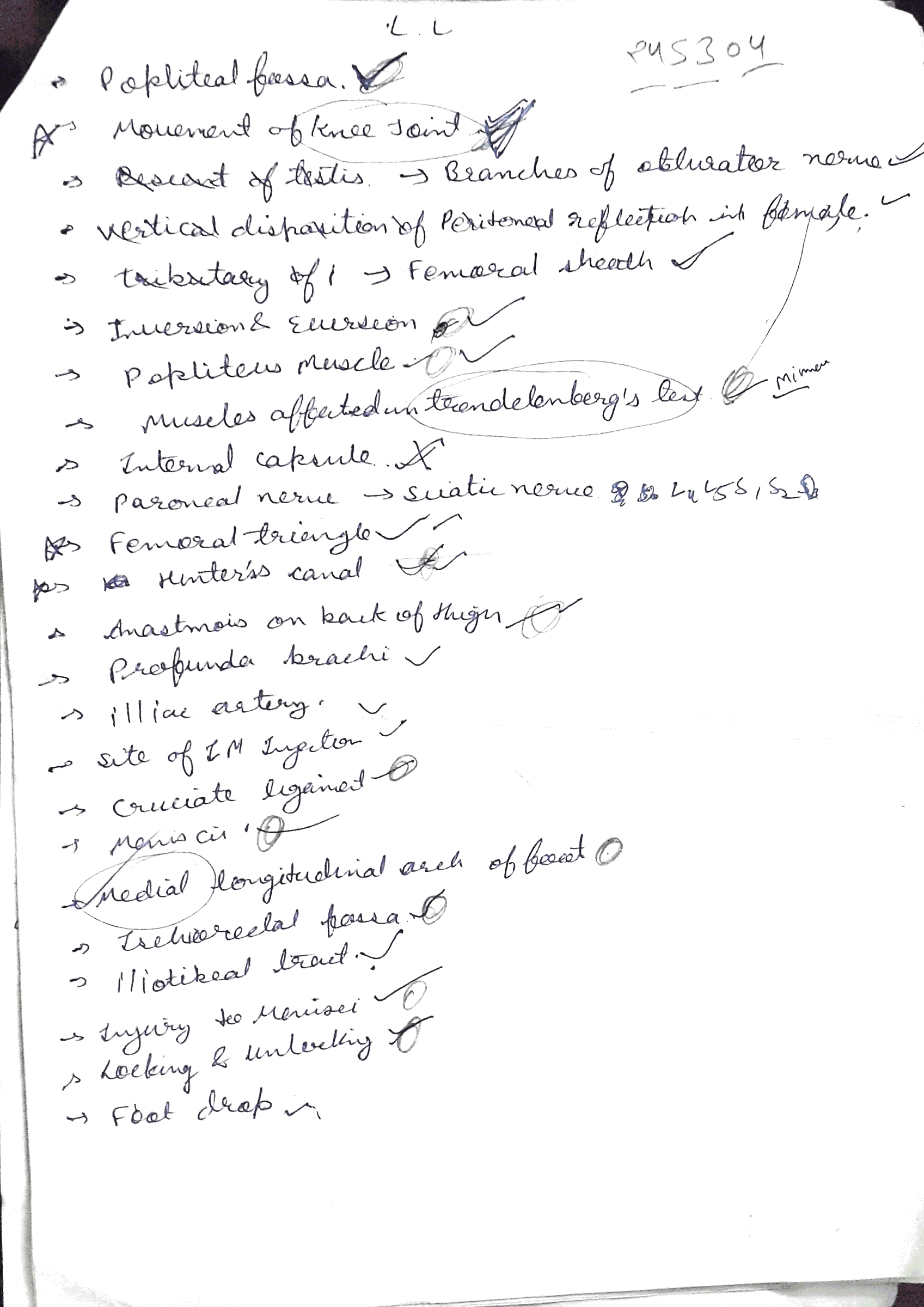 Anatomy Important Question For 1st Professional Exam Make Notes